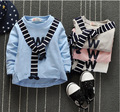 1-3years 2016 Spring and Autumn Children Clothes Boys Sweatershirt Baby Cotton Printed Letters Shawl Leisure Shirt