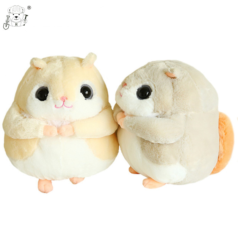 GRT 1pc 35cm Kawaii Flying Squirrel Plush Toys Staffed Animal Doll Cute Chipmunk Hamster Toys for Children Gifts Soft Pillows