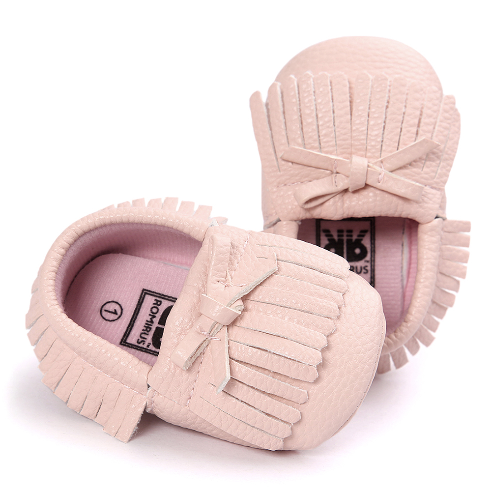 ABWE Best Sale ROMIRUS Latest Baby Tassel Bow Moccasins Infant Casual Shoes Soft Sole Babies Booties First Walkers Toddler Pin
