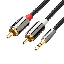 Amkle Audio Cable 2RCA to 3.5 Audio Car Cable RCA 3.5mm Jack Male to Male RCA AUX Cable for Amplifier Phone Headphone Speaker