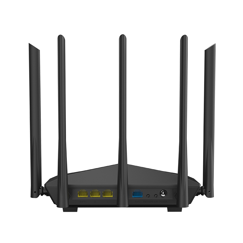 Tenda AC11 1200Mbps Wireless Router Wifi Repeater 1WAN + 3LAN Gigabit Ports, 5 * 6dBi High Gain Antennen, Smart APP Verwalten 128 DDR
