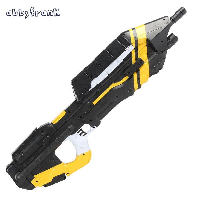 Abbyfrank MA5C Electric Toy Gun With Halo Submachine Gun Water Bullet Bursts Gun Battle CS Interactive Gun Sniper Rifle Kid Toys cross fire toy gun barrett sniper rifle capable of firing bullets soft bullet gun and there are children s toys flash sound gun