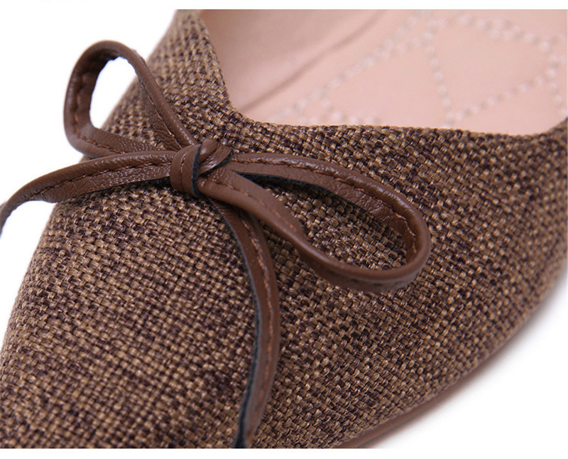 Women Ballerinas Flats Fashion Bowtie Shallow Mouth Slip-on Women Flats Concise Ladies Casual Flat Shoes Ballet Flats For Women (6)