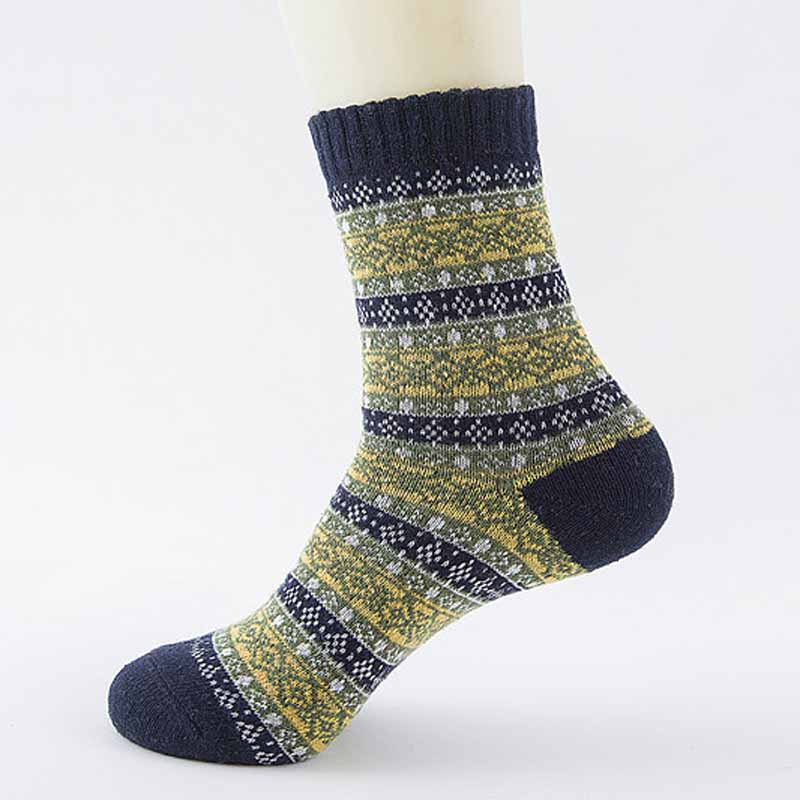 5 Pair lattic Winter Mens Socks Warm Thick Wool Sokken Mixture Cashmere Casual Dress Socks calcetines hombre Cheap
