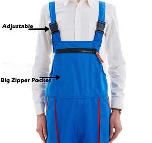 Image 5 - גברים נשים סינר סרבל עבודת בגדי מגן סרבל טכנאי רצועת סרבלי עבודה מדים שרוולים סרבל