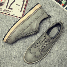 2018 new spring men casual shoes men's shoes Bullock thick plate flats