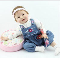 Simulation Baby Doll Cloth Doll Body Silicone Doll High End Gifts Doll Children S Toys