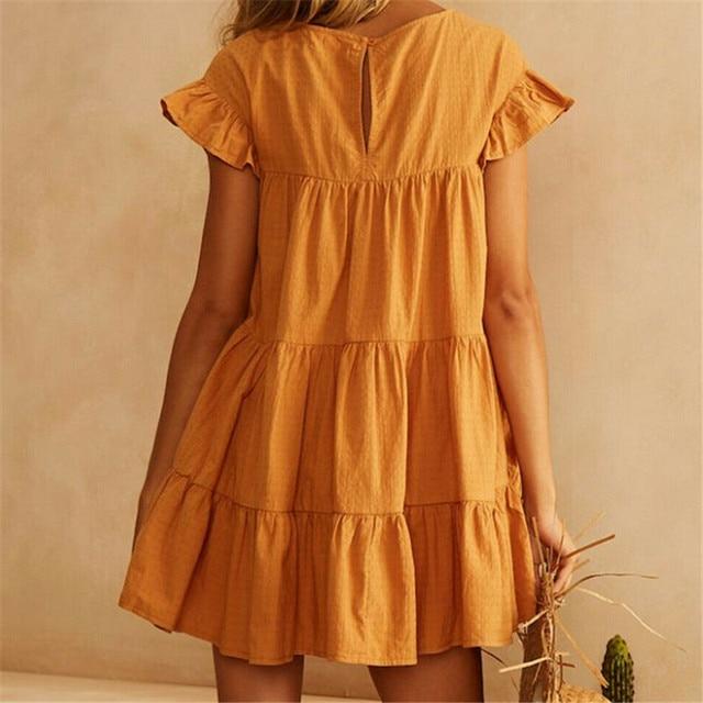 Short Sundress With Cascading Ruffles 4