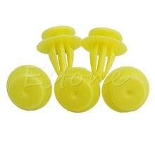 20 шт. 10 мм отверстие желтый Пластик Заклёпки авто для бампер Fender отделкой Панель Зажимы клип Лидер продаж