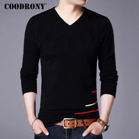 COODRONY Sweater Men 2017 New Arrival Soft Warm Knitted Sweaters Cashmere Wool Pullover Men Flash Pattern