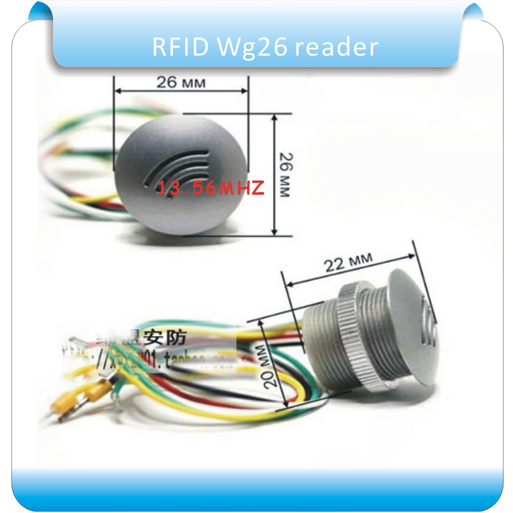 Free shipping S50 13 56MHZ frequency Dito reader wiegand26 id mini RFID access control Rreader 5pcs crystal keyfobs in Control Card Readers from Security Protection