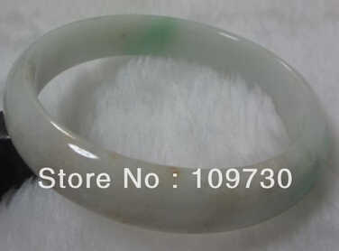 """จัดส่งฟรี>>>>> 909286ธรรมชาติเกรด""""A""""ที่สวยงามสีเขียวหยกJADEITEสร้อยข้อมือสีขาวสีเขียวกำไลข้อมือ"""
