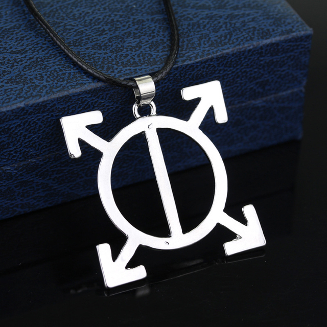 10pcslot 30 Seconds To Mars Triad Necklace Orbis Epsilon Symbol