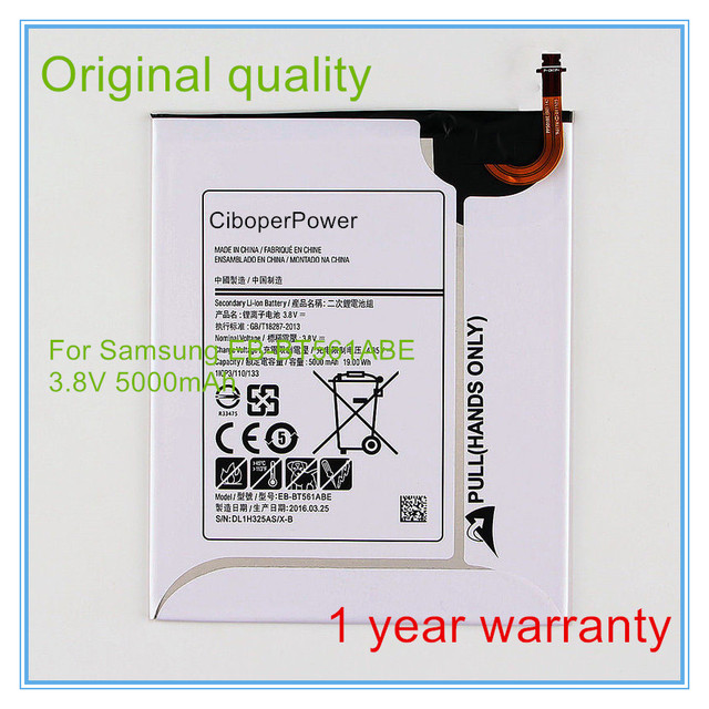 Original quality Battery EB-BT561ABE For Tab E T560 T561 SM-T560