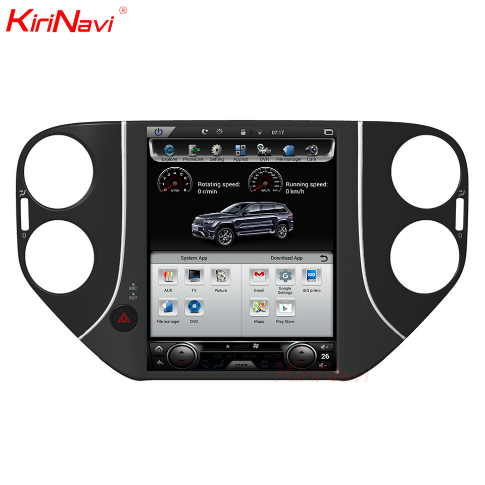 KiriNavi Vertical Screen 2GB RAM 10.4 Inch Car Multimedia Dvd Player For Tiguan Radio Android Gps Navigation 2010 2016