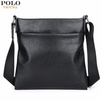 VICUNA POLO Fashion Durable Leather Men Crossbody Bag Super Soft Men S Leather Messenger Bag Business