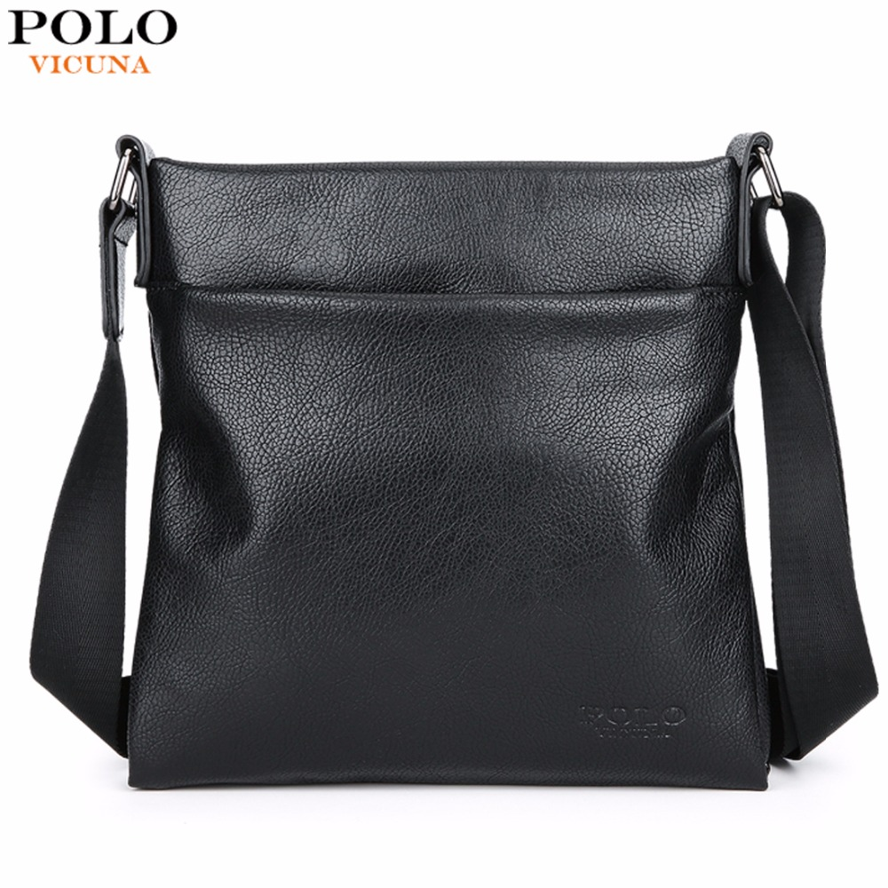 a4784cf1bf57 VICUNA POLO Fashion Durable Leather Men Crossbody Bag Super Soft Men s  Leather Messenger Bag Business Sling Bags Man Bag Handbag