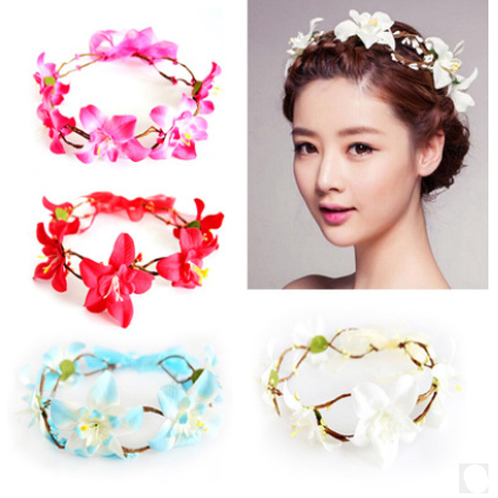 Ladies Fashion Simulation Flower Headband wedding hair ornaments ...