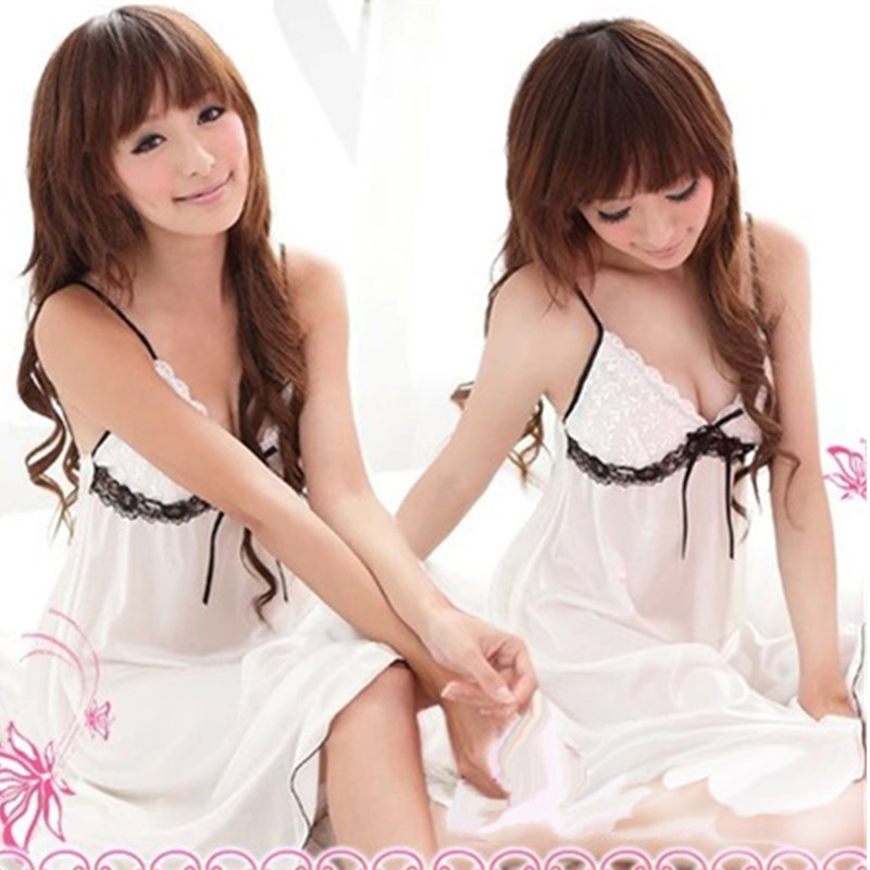 NEW Girrl Tube Tatting Cotton Nightgown Young Women 39 s Sleep Dress White Lace Sleepshirts Princess Pyjamas Sexy Small Fresh in Nightgowns amp Sleepshirts from Underwear amp Sleepwears