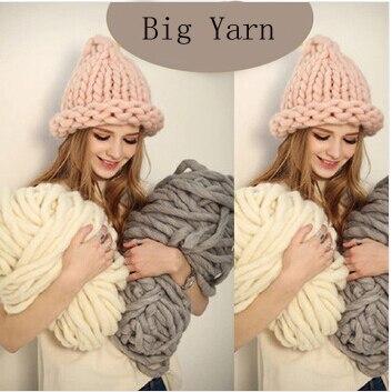 Корея Кэти Моды Толщиной Большой Пряжи Для Hat & Шарф Толстый Вязание DIY Супер Большой Вязать Шерстяной Пряжи 250 Г