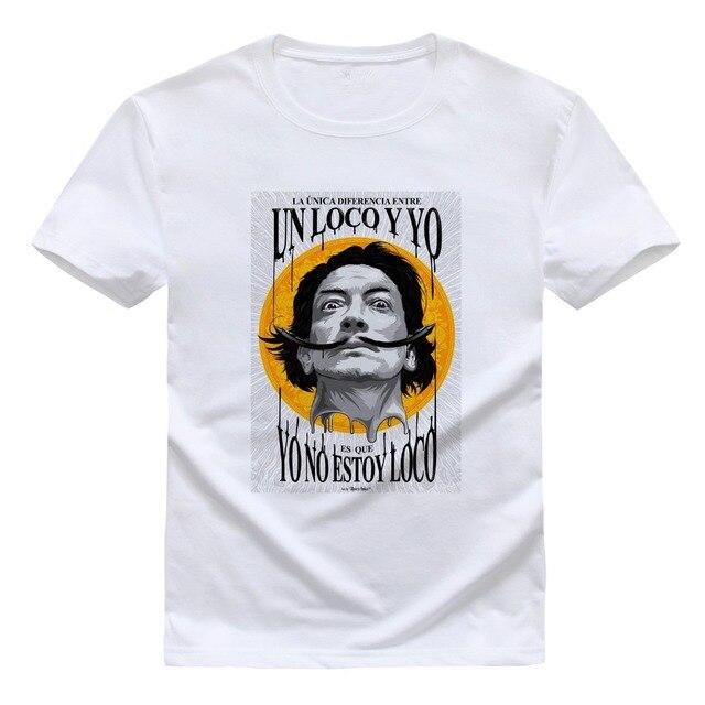 Salvador Dali mens Camisetas 2016 euro tamaño T Camisas DALI Salvador  camiseta impresa encargo Camisas Hipster. Sitúa el cursor encima para ... 3069c2ef0edcf