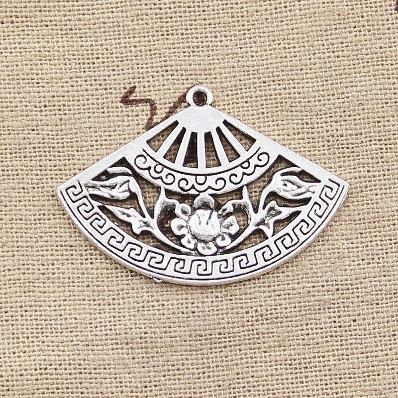 10pcs Tibetan silver fan design pendant h0109