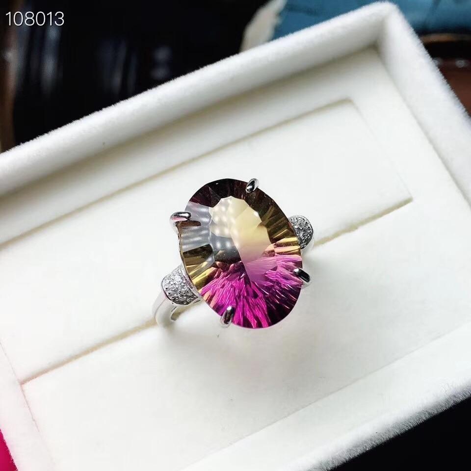 Rare della pietra preziosa di colore, naturale ametista della signora anello, in argento 925, romanzo di artigianato, bei colori.Rare della pietra preziosa di colore, naturale ametista della signora anello, in argento 925, romanzo di artigianato, bei colori.