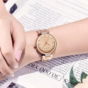 Image 3 - MINI FOCUS marka luksusowe modne zegarki kobiety zegarek kwarcowy zegarek dla kobiet kobiet panie Relogio Feminino Montre Femme różowe złoto