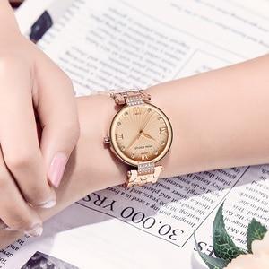 Image 3 - MINI FOCUS العلامة التجارية الفاخرة موضة ساعات نسائية كوارتز سيدة ساعة اليد النسائية السيدات Relogio Feminino Montre فام الذهب الوردي