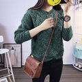 Women Long Sleeve Knitted Cardigan Loose Sweater wear  Casual Sweater for autumn winter asian