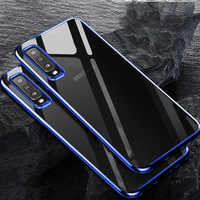 Silicone Case For Samsung Galaxy A7 2018 Cover Transparent Plating Case Protective Bumper Cover for Samsung Galaxy A7 2018 A750