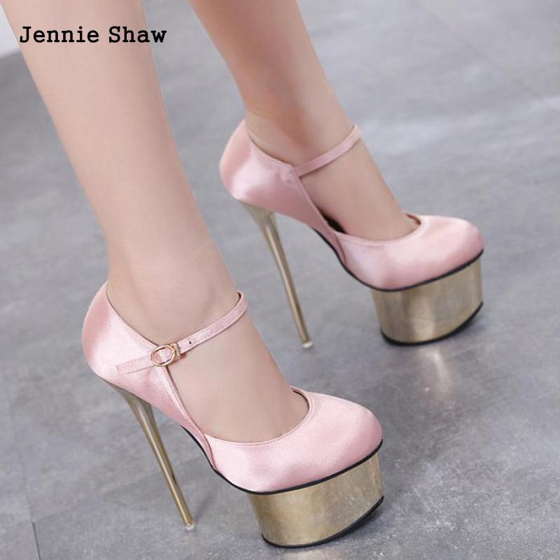 07ac6480fc0a Sexy Women High Heel 16cm Nightclub Stiletto Pumps Platform Valentine Shoes