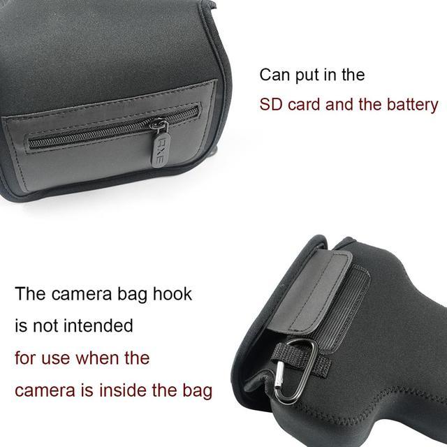 Neoprene Camera Case Bag for Canon EOS 4000D 2000D 800D 200D 250D 77D 760D 750D 1300D Rebel T7i T6i KissX9i SL2 SL3 with 18-55mm