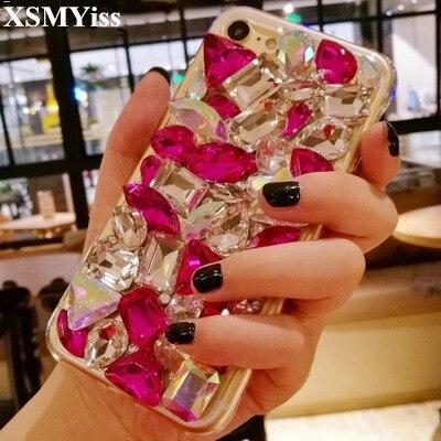 Diamond Bling Crystal Stone Luxury Decoration Case for Xiaomi 5S 6 8 Lite 9 SE 5X 6X A2 MAX2 MAX3 MIX3 Glitte Rhinestone Coque