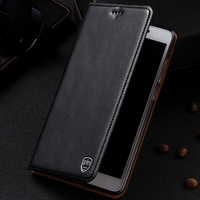 For ZTE Nubia Z11 5 5 Case Cover Crazy Horse Flip Genuine Leather Case Cover For