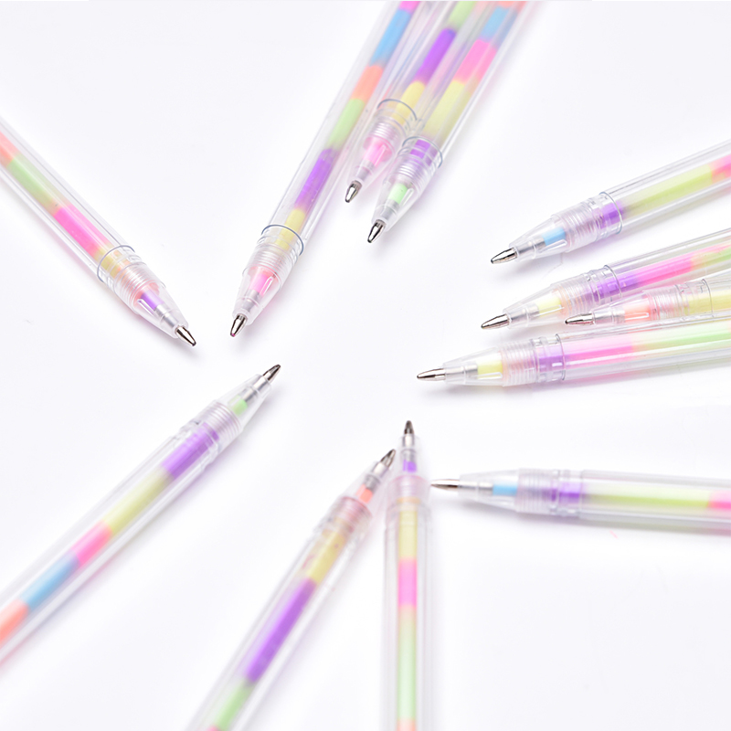 0 8mm Rainbow Color Pen Refills Set Kawaii Glitter Gel Pen Water Chalk Highlighter Pens for Drawing Graffiti Pen School Supply in Highlighters from Office School Supplies