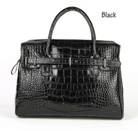 Women Nappa Split Leather Shoulder Satchel Handbag Fashion Crocodile Pattern Purse Designer Alligator Bags Lady Daily