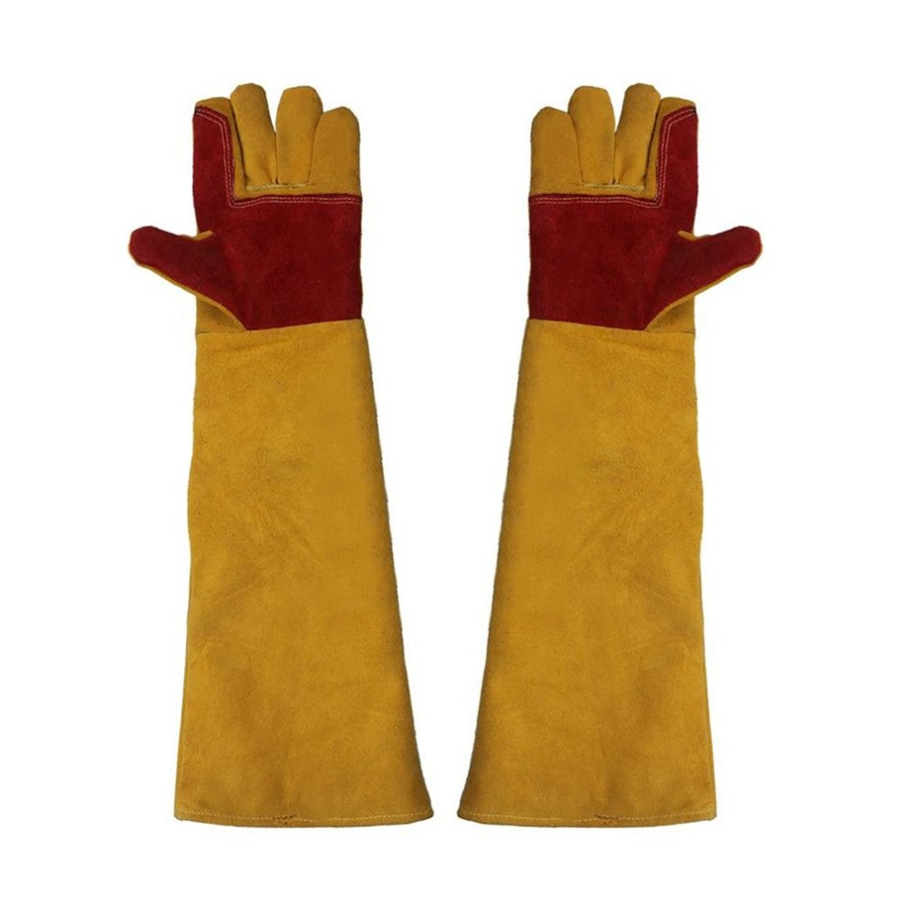 1 Pair, Lengthening Working Gloves, Electric Welding Soldering, Safety Labor, Protective Gloves, Metal Industrial Tactical Glove safurance anti cuttingextended wearable welding gloves industrial leather protective glove workplace safety fire retardant