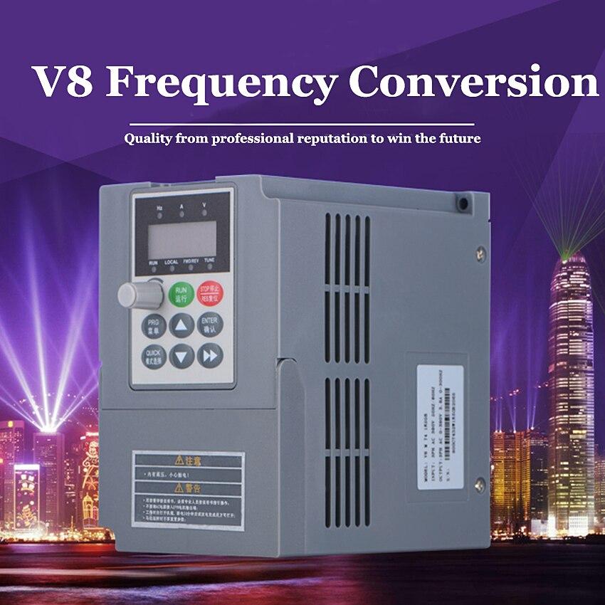 1 PC V8 M 2 S 1R5GB 1.5KW 220 V monophasé entrée et 220 v 3 phases sortie mini moteur à courant alternatif convertisseur de fréquence