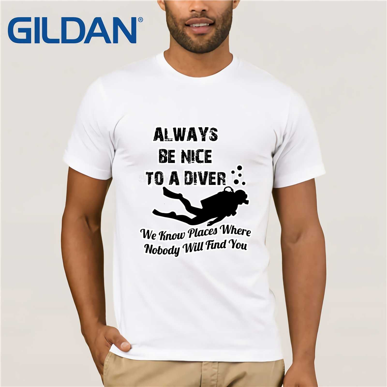5dcc61baca ... Diving Diver T Shirt Source · Detail Feedback Questions about Funny  Always Be Nice To A Diver t