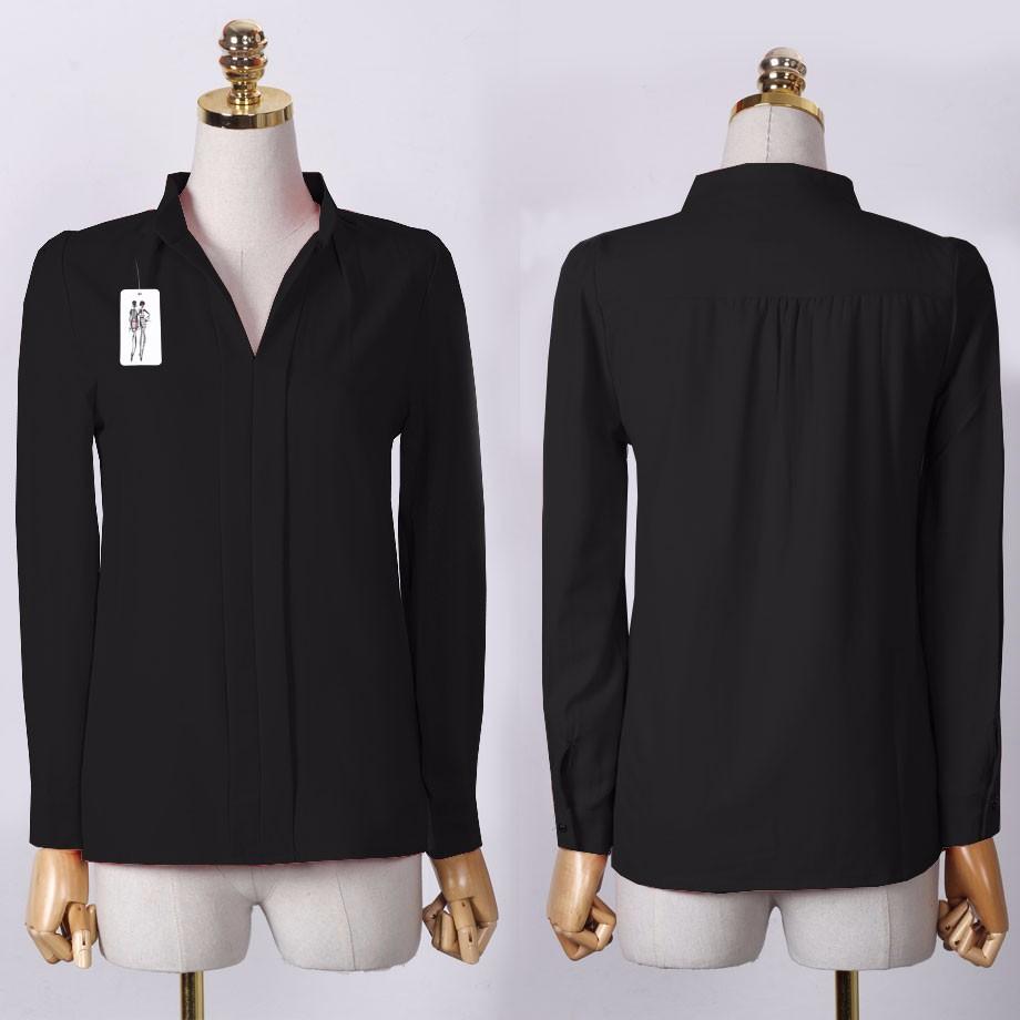 HTB1i0zTOXXXXXXFXXXXq6xXFXXX5 - Long Sleeve Elegant Ladies Office Shirts Fashion Casual Slim Women
