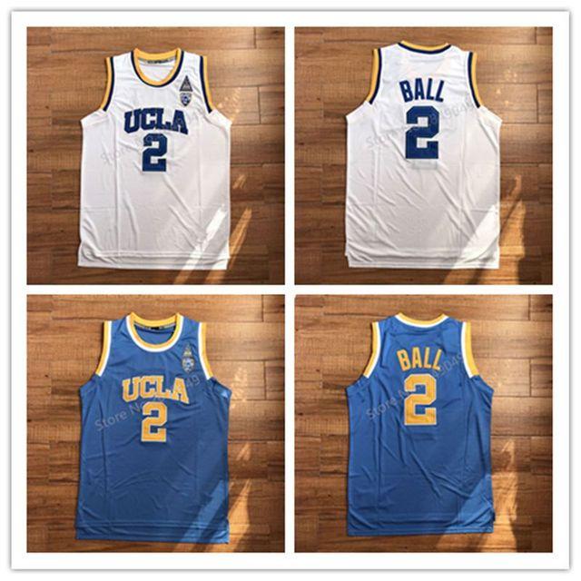 25f832632180 Latest Lonzo Ball  2 Blue White Basketball Jersey College UCLA Bruins  Stitched