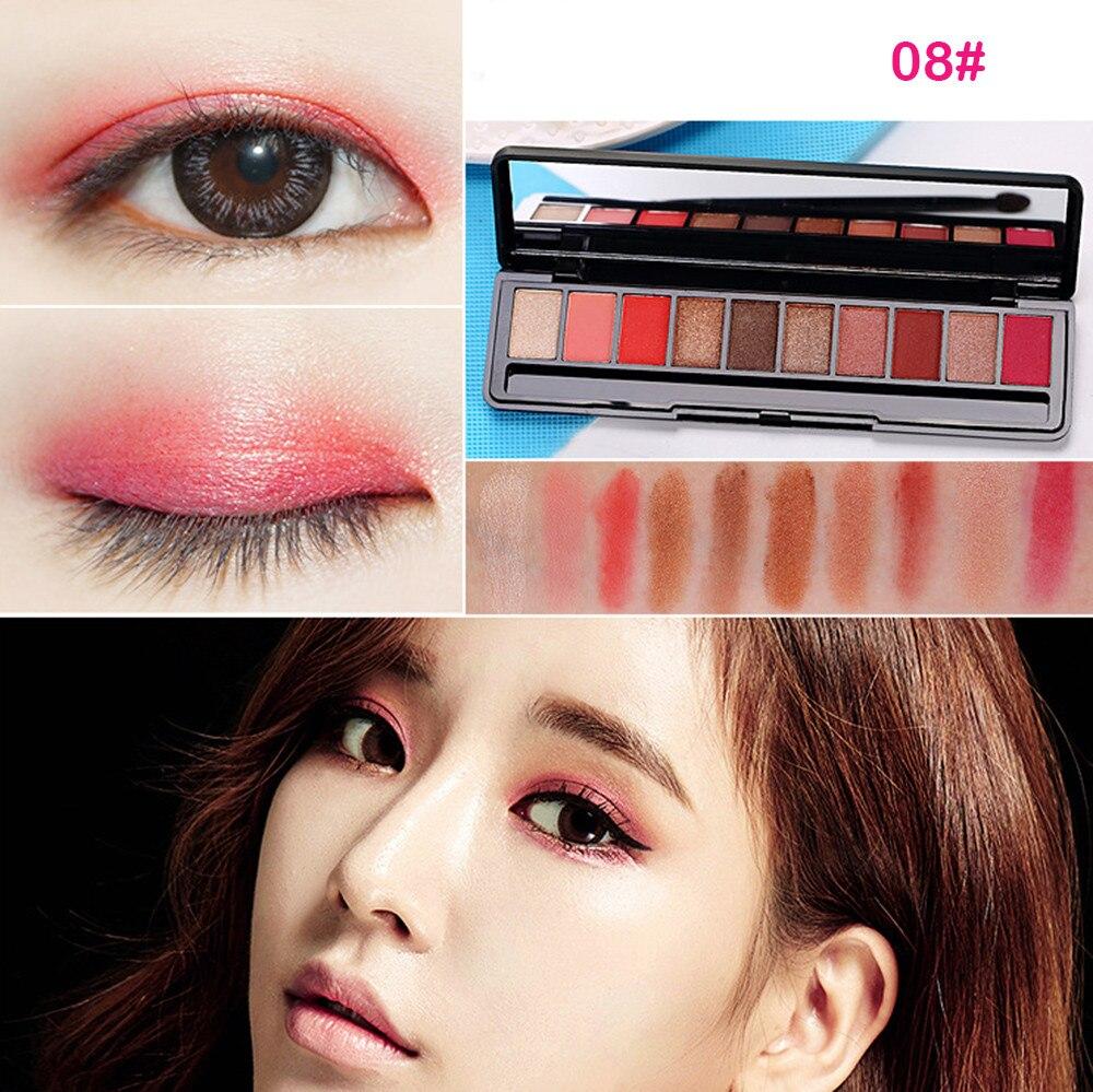 GECOMO 10 Colors Eyeshadow Palette Luxury Golden Pearl Matte Nude Eye Shadow 0509MZH
