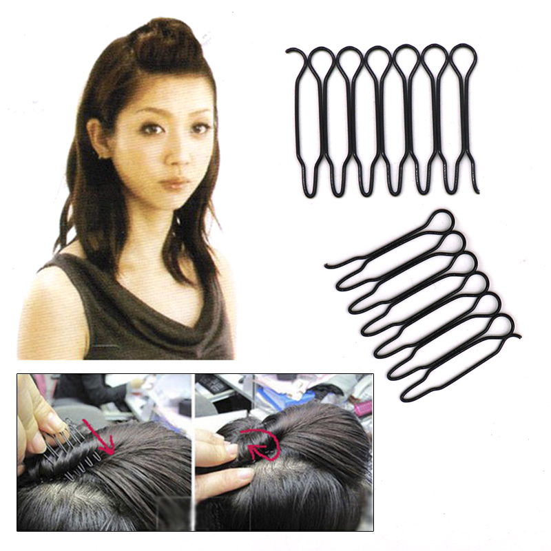 6Pcs Black Mini Inserted Hairpins Hair Clips For Women Hair Styling Tools Hairclips Metal Hair Barrettes Clamps Hair Accessories