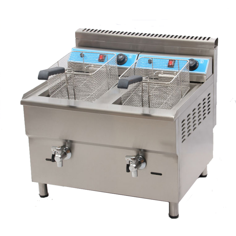 Marchef 34l Double Tank Professional Kitchen Equipment Tanks Gas Deep Fryer In Electric Fryers From Home Liances On Aliexpress