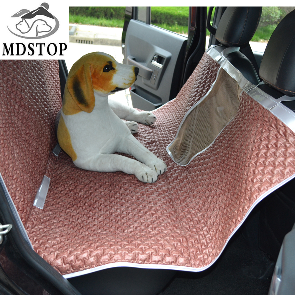 2017 New 2in1 Transporte Pet Dog Car Seat Cover Hammock with Visble Mesh Barrier Dog Accessories Cat Blanket for SUV Trucks Cars