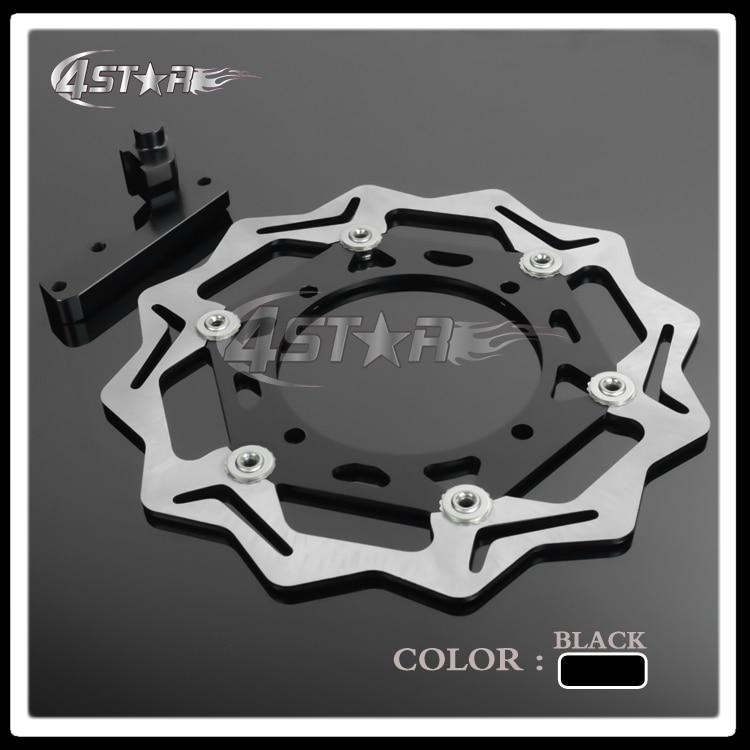 270ММ черный Алюминиевый Плав Дисковой механизм + Кронштейн Стойка для RMZ250 RMZ450 RMX450 07-15 05-15 10-12 Супермото эндуро мотоцикл
