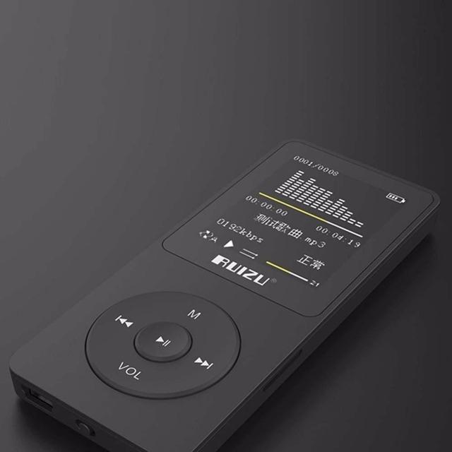 2016 Más Reciente 4 GB Ultrafinos with1.8 Pulgadas de Pantalla Reproductor de MP3 puede reproducir 80 h, RUIZU X02 Mp3 Reproductor de Música
