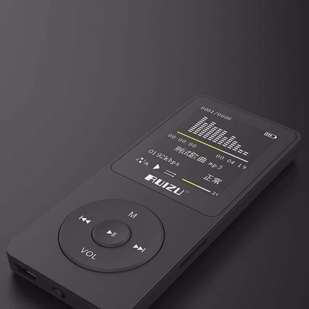 2017 100% original Anglais version Ultra-Mince Lecteur MP3 avec 4 GB de stockage et 1.8 Pouce Écran peut jouer 80 h, d'origine RUIZU X02