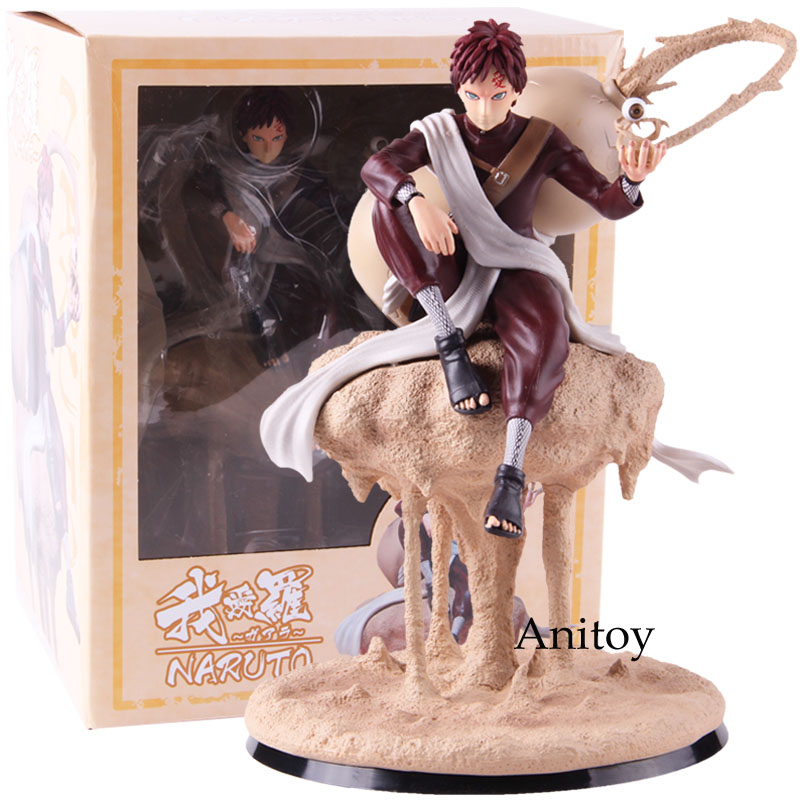 Naruto Shippuden Gaara Fighting Version GK Statue PVC Sabaku no Gaara Figure Collectible Model Toy